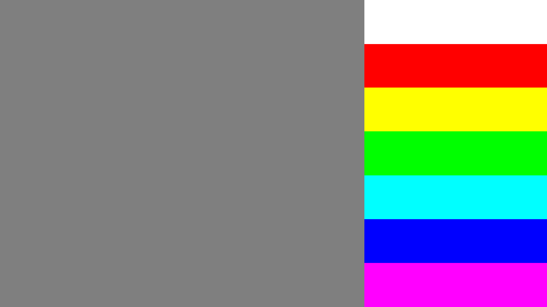 Right side color bleed test pattern