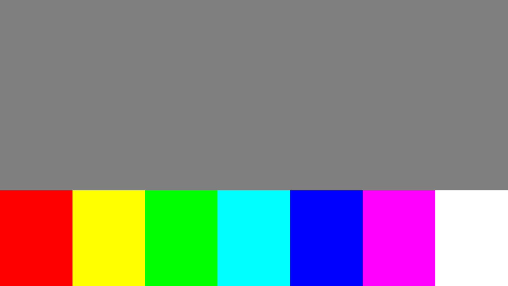 Bottom side color bleed test pattern