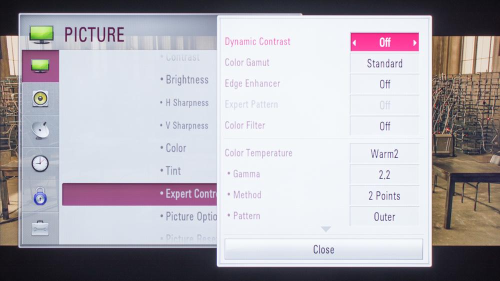 LG LF6000 Calibration Settings 4