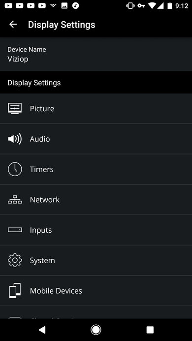 Vizio display settings