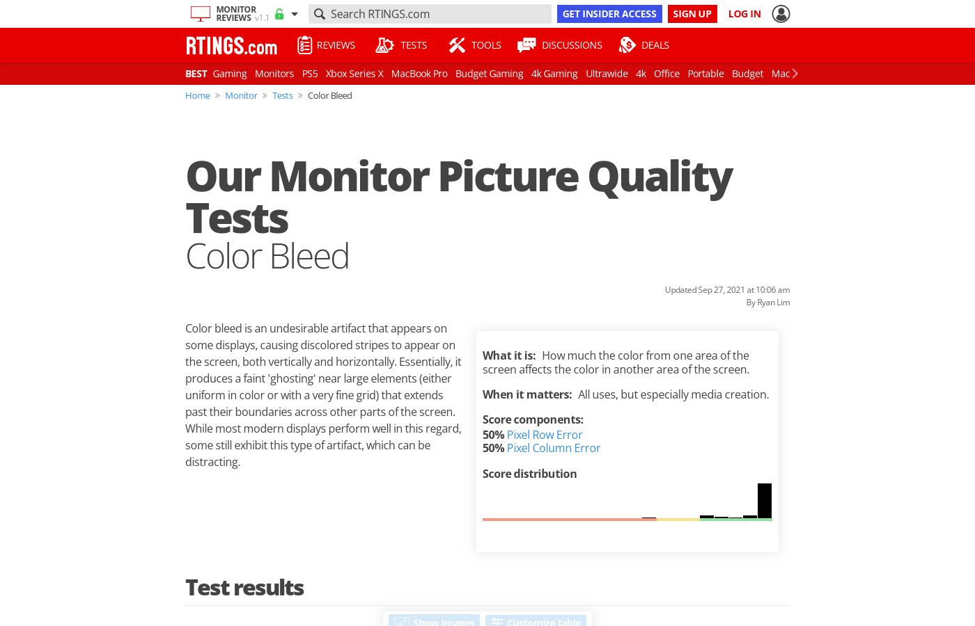 Our Tests: Color Bleed