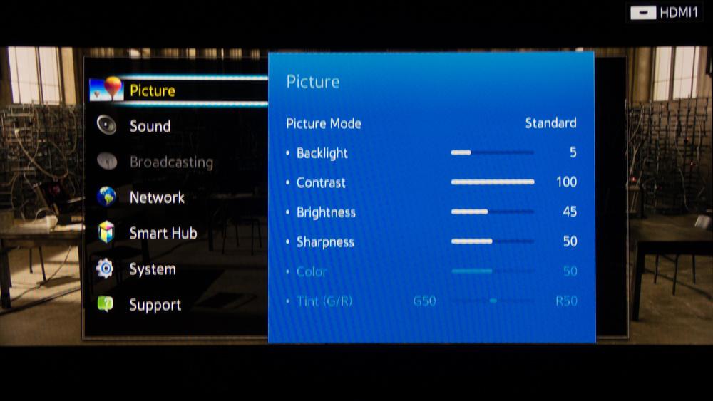 Samsung H8000 Calibration Settings 2
