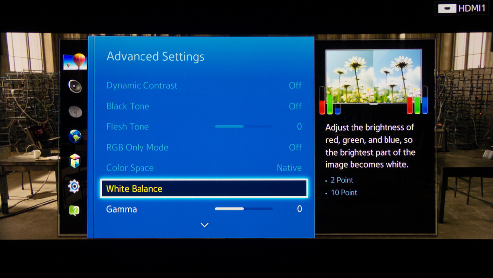 Samsung H8000 Calibration Settings 4