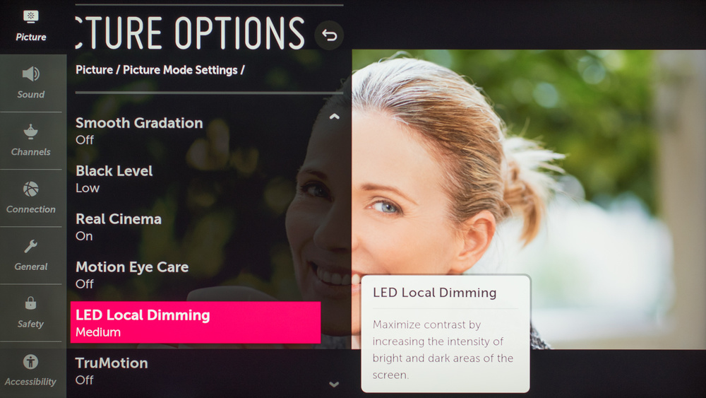 LG SM9500 Calibration Settings 50