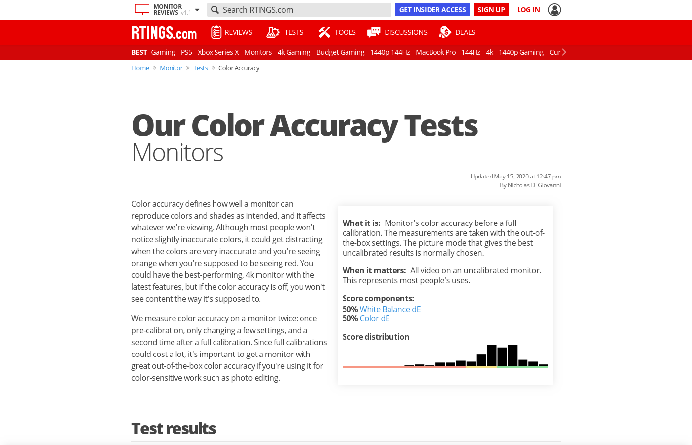Our Color Accuracy Tests: Monitors