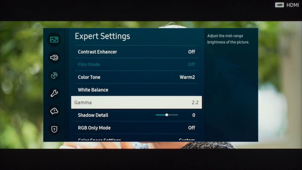 Samsung Q60/Q60T QLED Calibration Settings 13