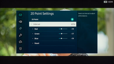 Samsung Q60/Q60T QLED Calibration Settings 28