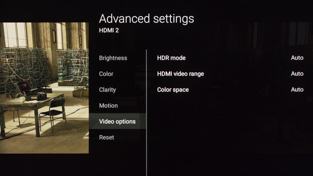 Sony X850E Calibration Settings 10