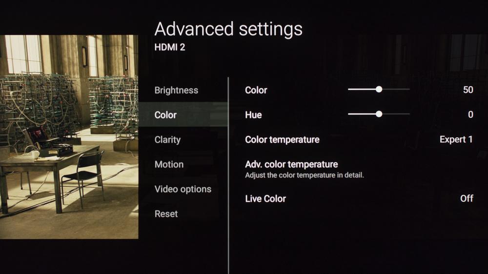 Sony X850E Calibration Settings 7