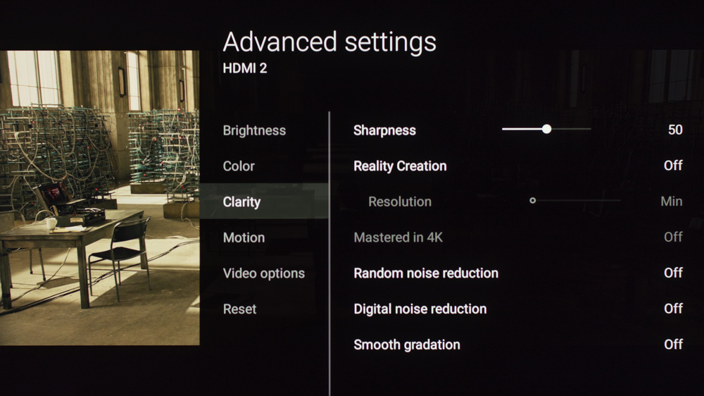 Sony X850E Calibration Settings 8