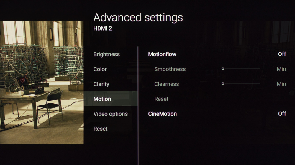 Sony X850E Calibration Settings 9