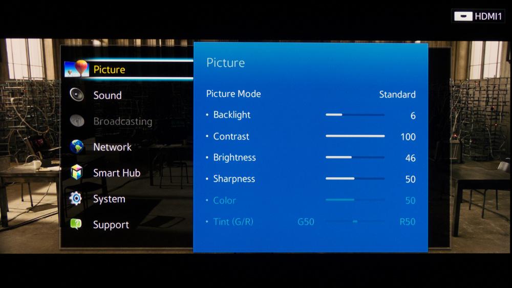 Samsung H7150 Calibration Settings 2