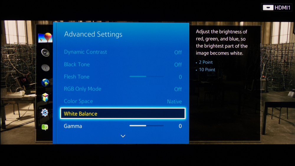 Samsung H7150 Calibration Settings 3
