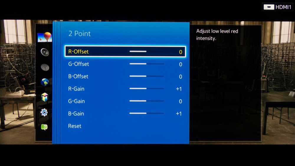 Samsung H7150 Calibration Settings 4