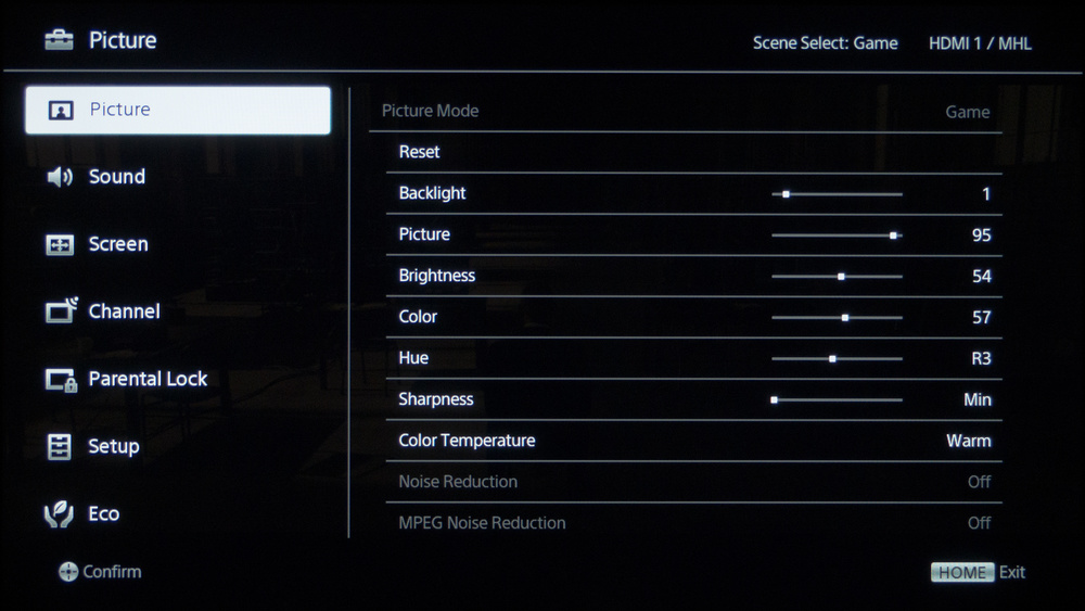 Sony R420B Calibration Settings 1