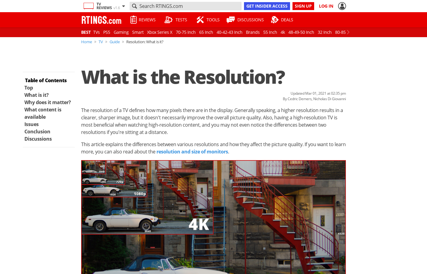 What is the Resolution? - RTINGS com