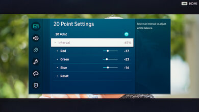 Samsung The Sero Calibration Settings 27