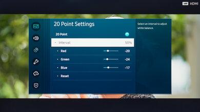 Samsung The Sero Calibration Settings 30