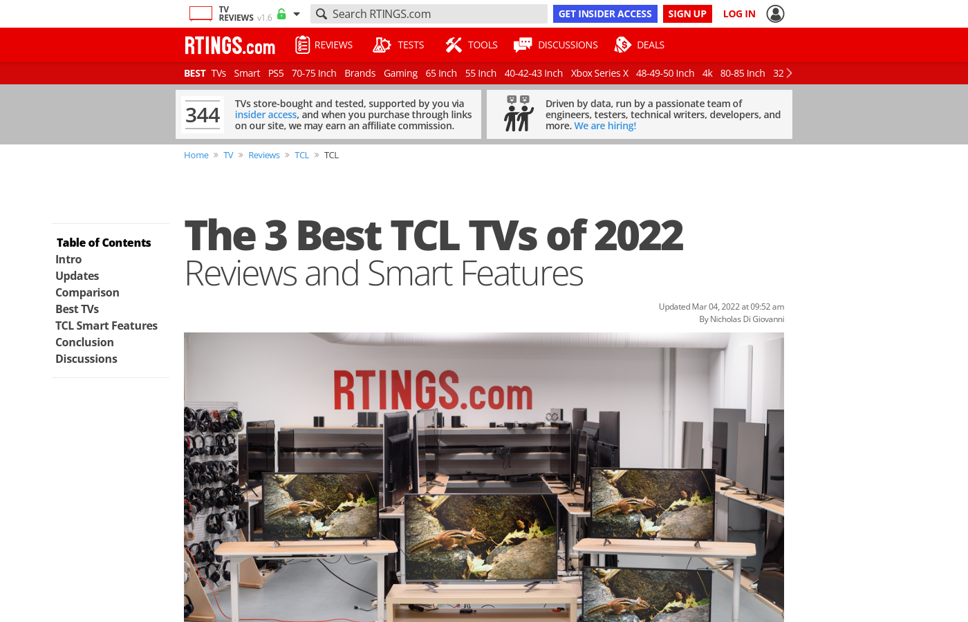 The Best TCL TVs of 2019: Reviews and Smart Features - RTINGS com
