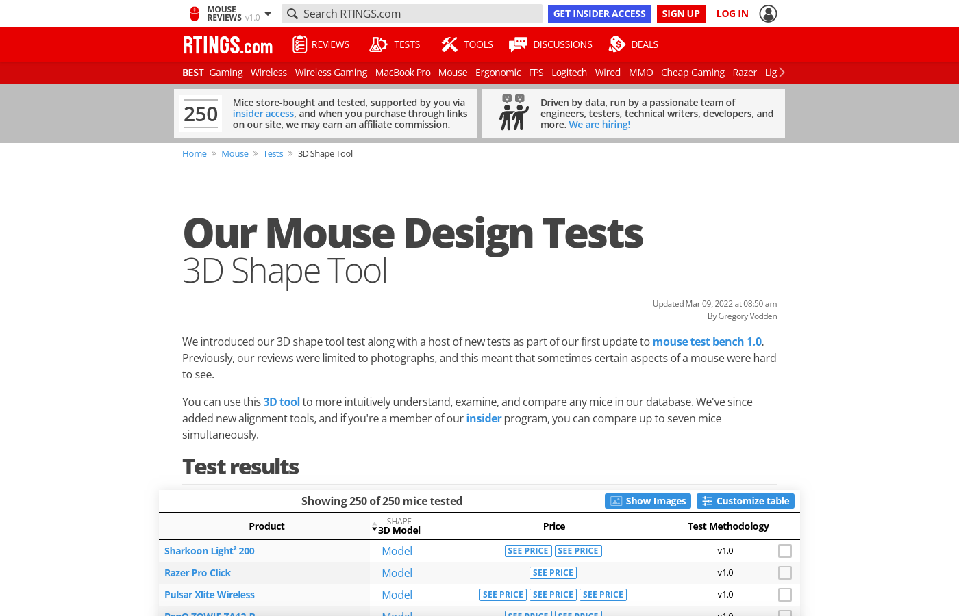 Test Article: 3D Shape Tool