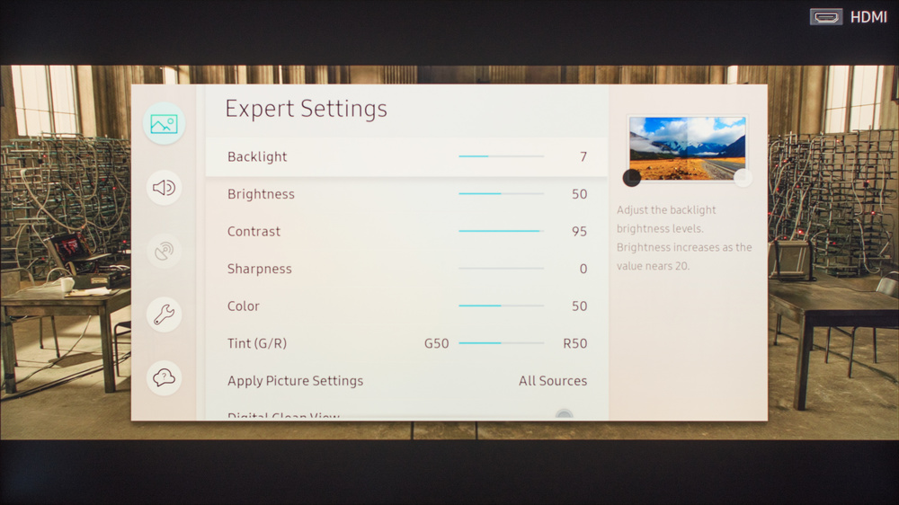 Samsung Q7F/Q7 QLED 2017 Calibration Settings 2