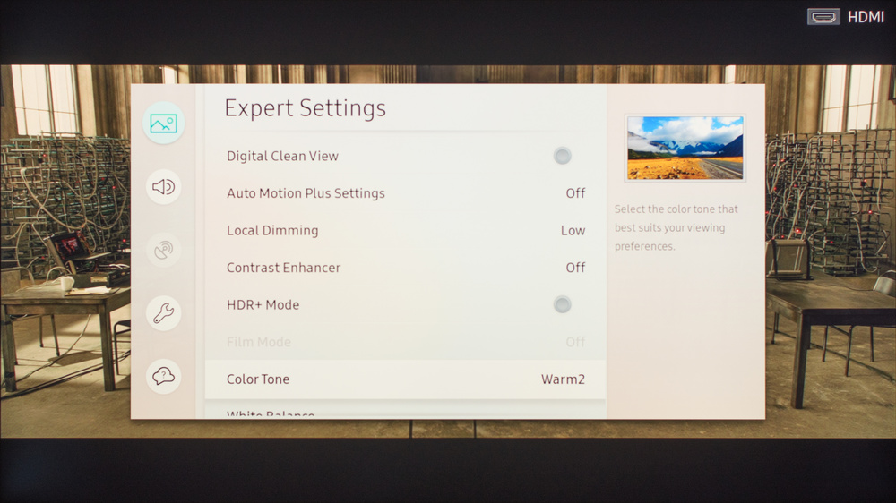 Samsung Q7F/Q7 QLED 2017 Calibration Settings 3