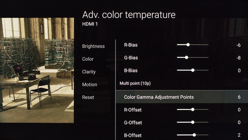 Sony X810C Calibration Settings 12