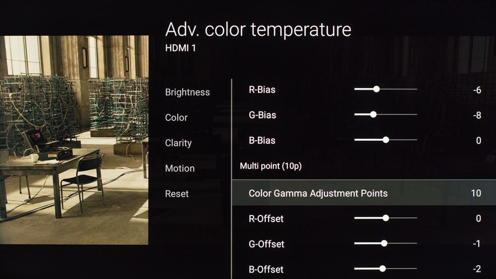 Sony X810C Calibration Settings 16