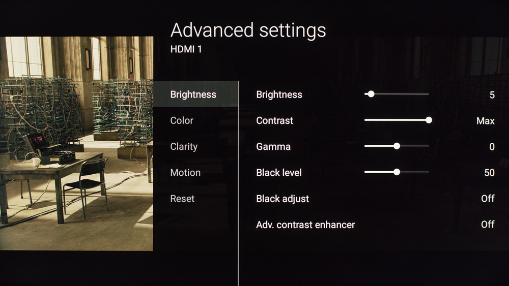 Sony X810C Calibration Settings 2