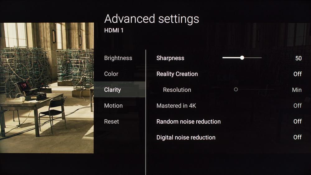 Sony X810C Calibration Settings 3