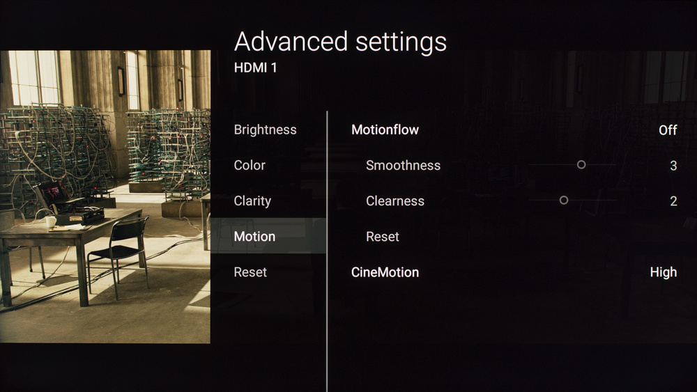 Sony X810C Calibration Settings 4