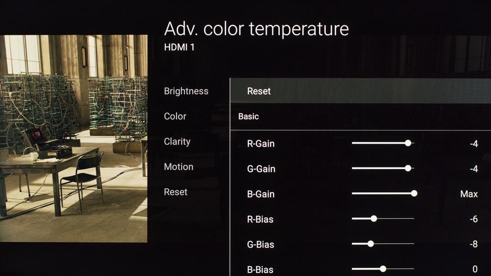 Sony X810C Calibration Settings 6