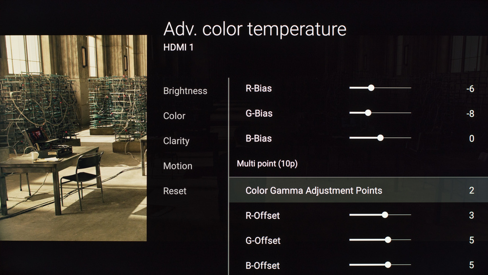 Sony X810C Calibration Settings 8