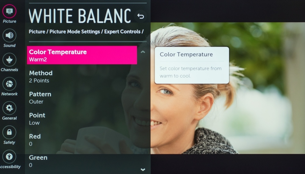 LG UK7700 Calibration Settings 16