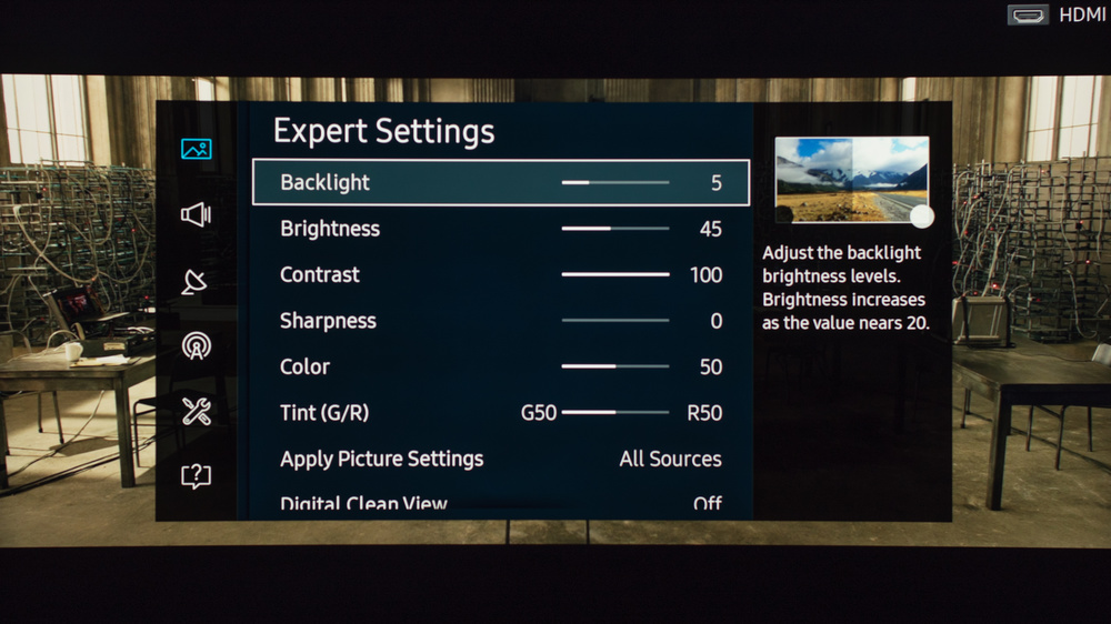Samsung KU7500 Calibration Settings 3