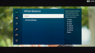 Samsung Q70/Q70T QLED Calibration Settings 17