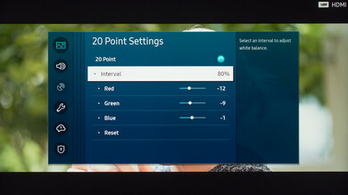 Samsung Q70/Q70T QLED Calibration Settings 34