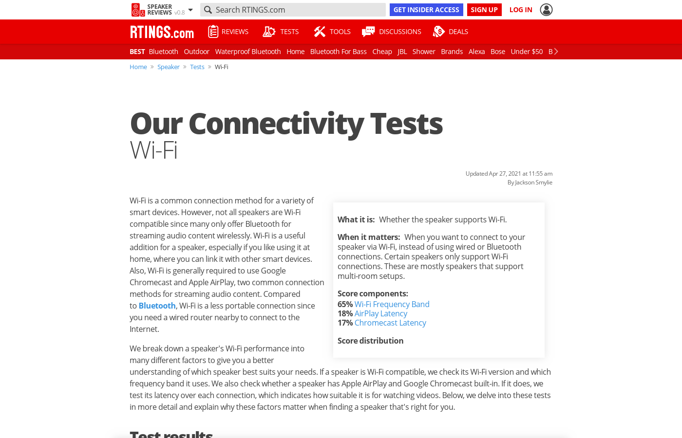 Our Connectivity Tests: Wi-Fi
