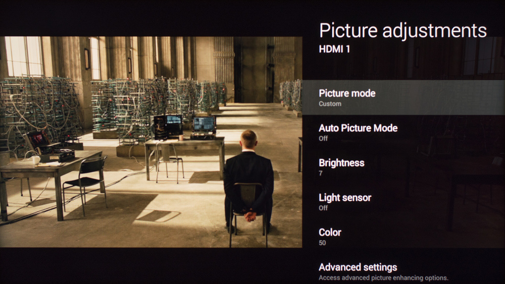 Sony W850C Calibration Settings 1