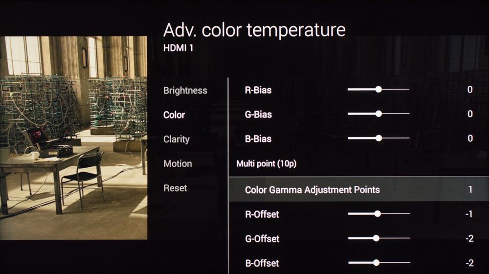 Sony W850C Calibration Settings 10