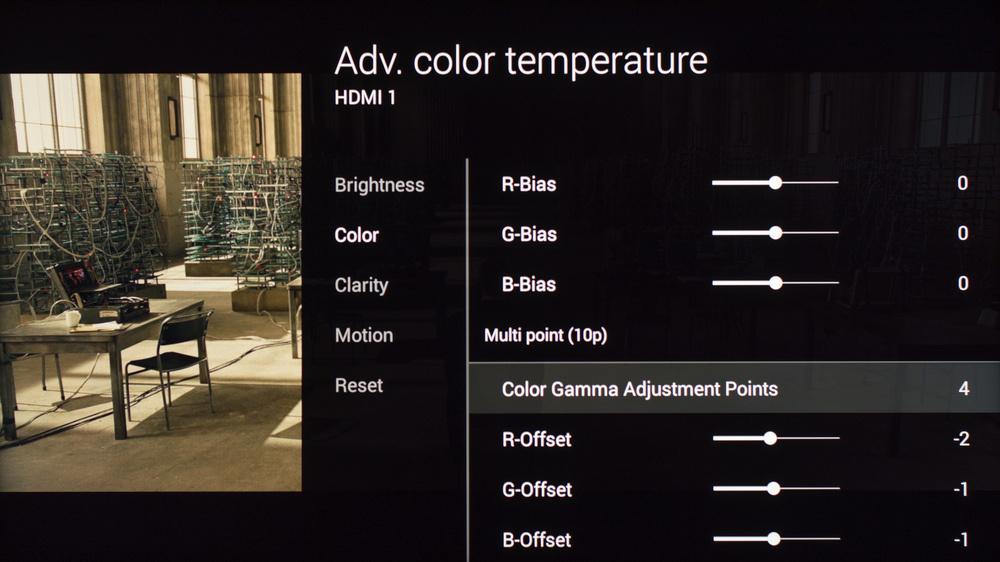 Sony W850C Calibration Settings 13