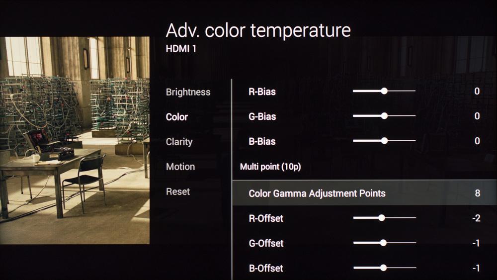 Sony W850C Calibration Settings 17