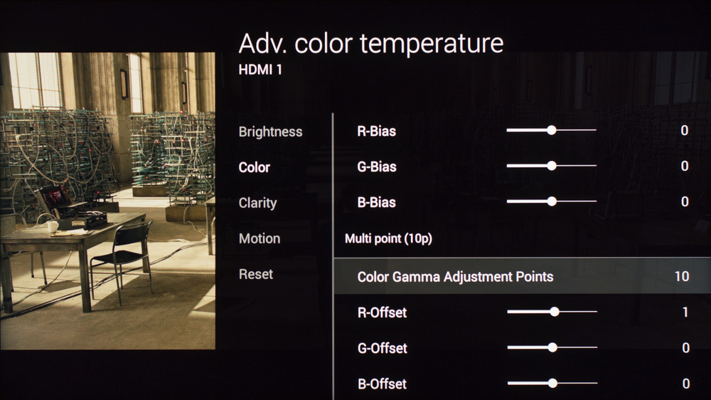 Sony W850C Calibration Settings 19