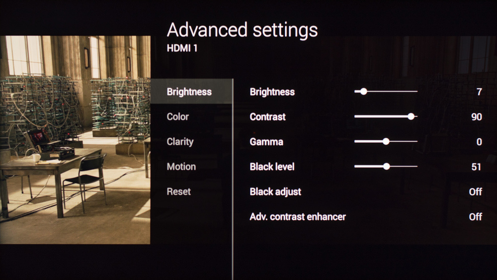Sony W850C Calibration Settings 2