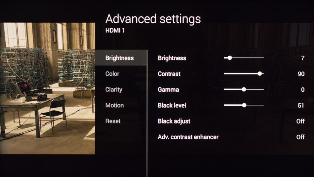 Sony W850C Calibration Settings 2