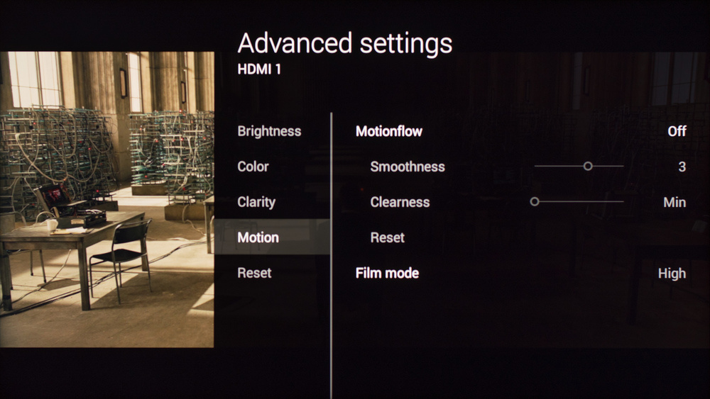 Sony W850C Calibration Settings 4