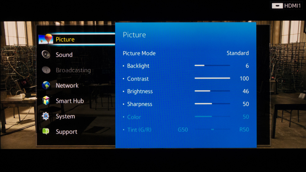 Samsung H6400 Calibration Settings 2
