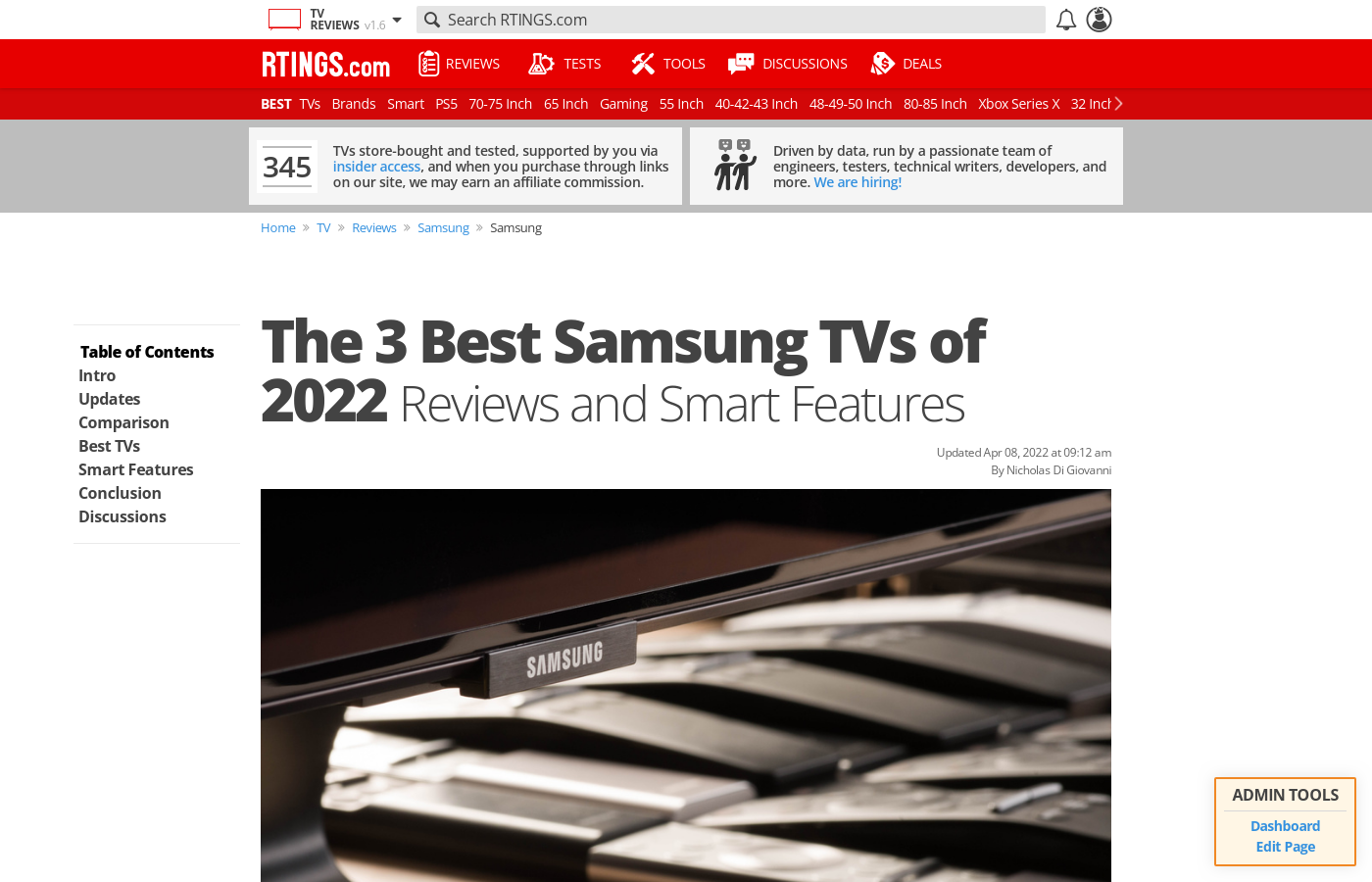 The Best Samsung TVs of 2019: Reviews and Smart Features - RTINGS com
