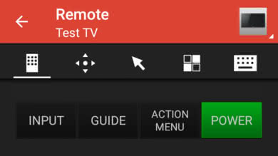 Sony Z9F Remote App Picture