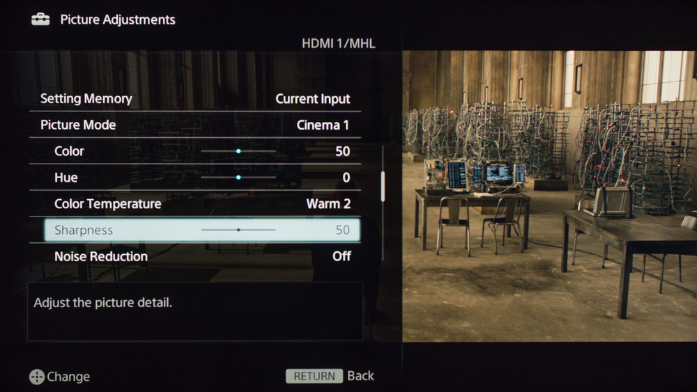 Sony W630B Calibration Settings 2